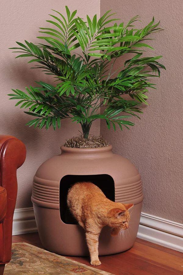 Good Pet Stuff Plant Hidden Litter Box for multiple cats